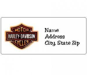 30 Personalized Harley Davidson Return Address Labels