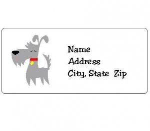 30 Personalized Terrier Dog Return Address Labels