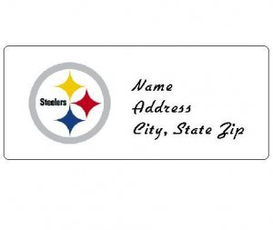 30 Personalized NFL Pittsburgh Steelers Return Address Labels