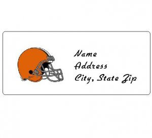 30 Personalized NFL Cleveland Browns Return Address Labels