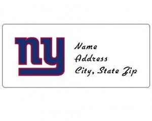 30 Personalized NFL New York Giants Return Address Labels