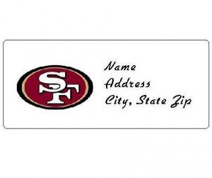 30 Personalized NFL San Francisco Forty Niners 49ers Return Address Labels