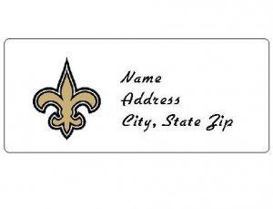 30 Personalized NFL New Orleans Saints Address Labels
