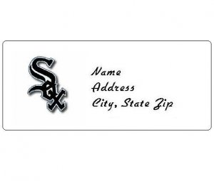 30 Personalized MLB Chicago White Sox Address Labels