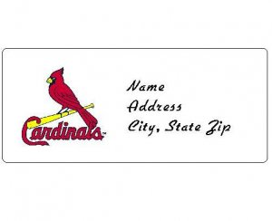 30 Personalized MLB St. Louis Cardinals Address Labels