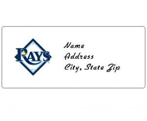 30 Personalized MLB Tampa Bay Rays Address Labels