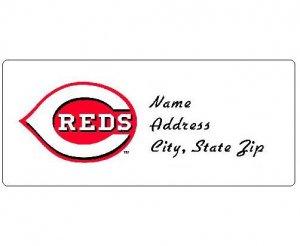 30 Personalized MLB Cincinnati Reds Address Labels