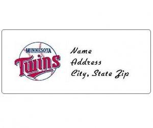 30 Personalized MLB Minnesota Twins Address Labels