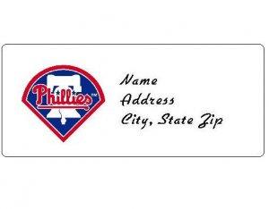 30 Personalized MLB Philadelphia Phillies Address Labels