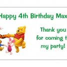 10 Personalized Winnie the Pooh Party Goody Bag Labels