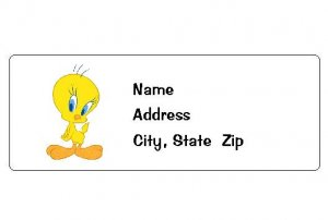 30 Personalized Tweety Bird Return Address Labels