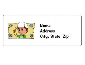 30 Personalized Handy Manny Return Address Labels