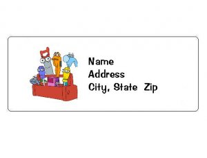 30 Personalized Handy Manny Tools Return Address Labels