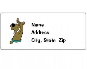30 Personalized Scooby-Doo Return Address Labels