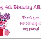 10 Personalized Sesame Street Abby Cadabby Party Goody Bag Labels