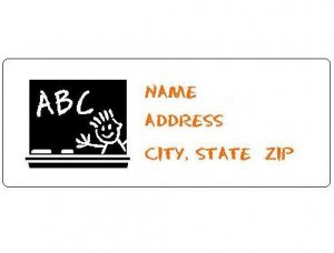 30 Personalized Classroom Teacher Chalkboard Return Address Labels