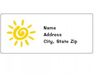 30 Personalized Sun Return Address Labels