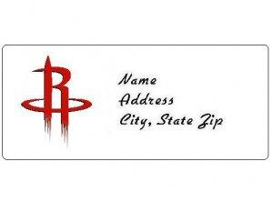 30 Personalized NBA Houston Rockets Return Address Labels