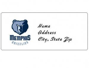 30 Personalized NBA Memphis Grizzlies Return Address Labels
