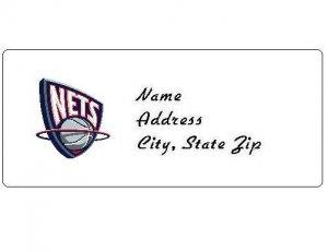30 Personalized NBA New Jersey Nets Return Address Labels
