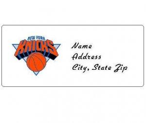 30 Personalized NBA New York Knicks Return Address Labels