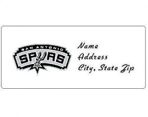30 Personalized NBA San Antonio Spurs Return Address Labels