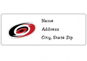 30 Personalized NHL Hockey Carolina Hurricanes Return Address Labels