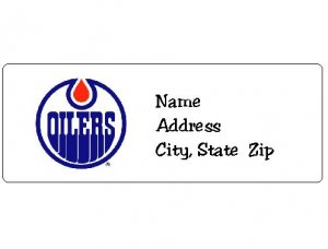 30 Personalized NHL Hockey Edmonton Oilers Return Address Labels