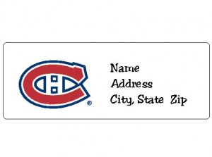 30 Personalized NHL Hockey Montreal Canadians Return Address Labels