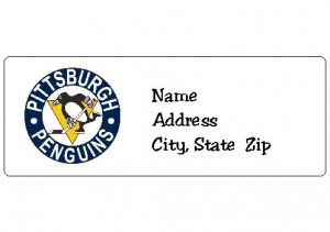 30 Personalized NHL Hockey Pittsburgh Penguins Return Address Labels