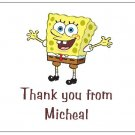 8 Personalized Spongebob Squarepants Thank You Cards / Note Cards