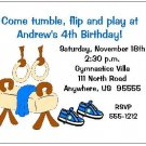 8 Personalized Gym Gymnastics Boy Birthday Invitations