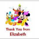 8 Personalized Mickey Mouse and Friends Thank You Cards / Note Cards