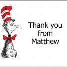 8 Personalized Cat In The Hat Thank You Cards / Note Cards