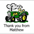 8 Personalized John Deere Green Tractor Thank You Cards / Note Cards