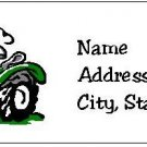 30 Personalized Green Tractor Return Address Labels