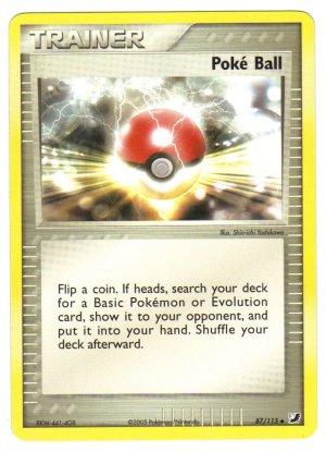Pokemon Card Unseen Forces Trainer Poke Ball