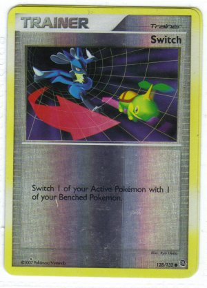 Pokemon Card DP Secret Wonders Reverse Holo Trainer Swtch