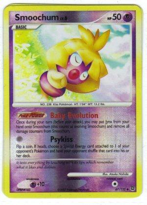 Pokemon Card DP Secret Wonders Reverse Holo Smoochum 67/132