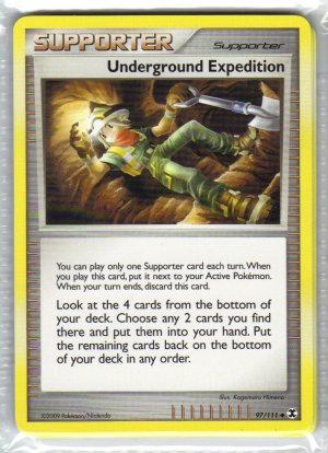 Pokemon Card Platinum Rising Rivals Trainer Underground Expedition