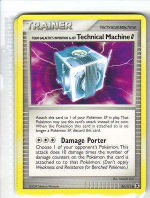 Pokemon Card Platinum Rising Rivals Trainer Technical Machine