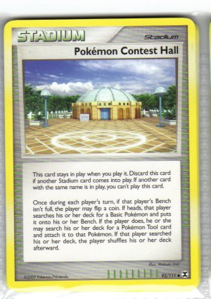 Pokemon Card Platinum Rising Rivals Trainer Pokemon Contest Hall