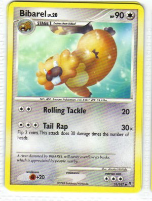 Pokemon Card Platinum Supreme Victors  Bibarel 51/147