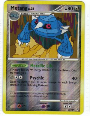 Pokemon Card Platinum Supreme Victors  Rev Holo Metang 69/147