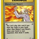 Pokemon Card Gym Heroes Trainer Blaine's Last Resort