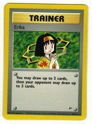 Pokemon Card Gym Heroes Trainer Erika