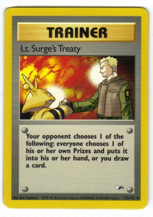 Pokemon Card Gym Heroes Trainer Lt. Surges Treaty
