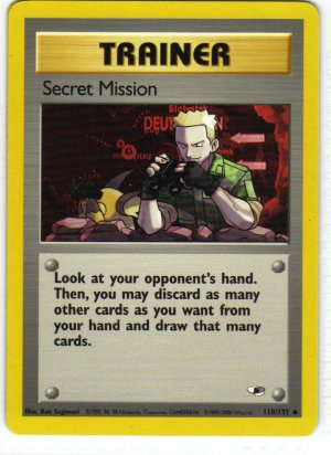 Pokemon Card Gym Heroes Trainer Secret Mission