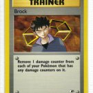 Pokemon Card Gym Heroes Trainer Brock