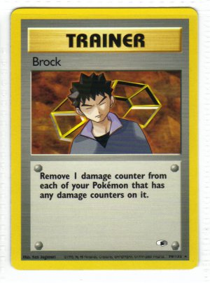 Pokemon Card Gym Heroes Trainer Brock